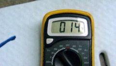 テスターの温度計で外気温を測る